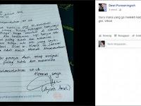 Ngakak! Anaknya Sakit, Seorang Ayah Tulis Surat Izin ke Guru Sekolah Dengan Kalimat yang Tak Wajar!