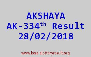 AKSHAYA Lottery AK 334 Results 28-02-2018