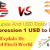 indian rupee vs usd dollar full compression 1 USD to INR In Hindi