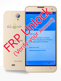 Cherry Mobile Flare J1 v4.0 Verify your account