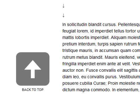 11 Top jQuery Scroll to Top of Page Plugin Tutorials with