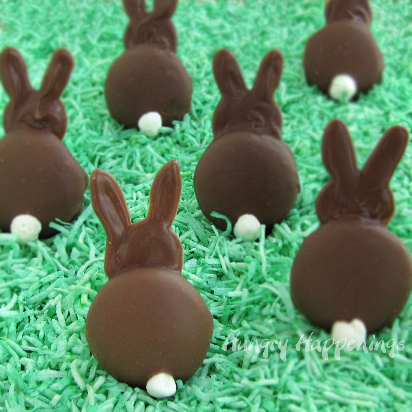 Brownie Bunny Butts With Reese's Peanut Butter Paws