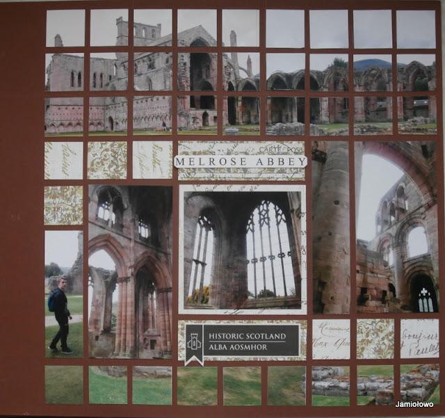 album mozaikowy -ruiny szkockiego opactwa