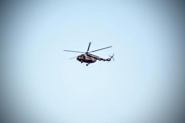 HELICOPTEROS ARTILLADOS sobrevuelan zona de enfrentamiento en el Salado Culiacán que dejó a dos militares heridos
