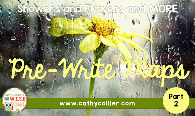 Pre-Write Maps like Double Bubble, Flow, Multi-Flow, and Tree Maps are more ways to gets kids to think about their writing before they write.