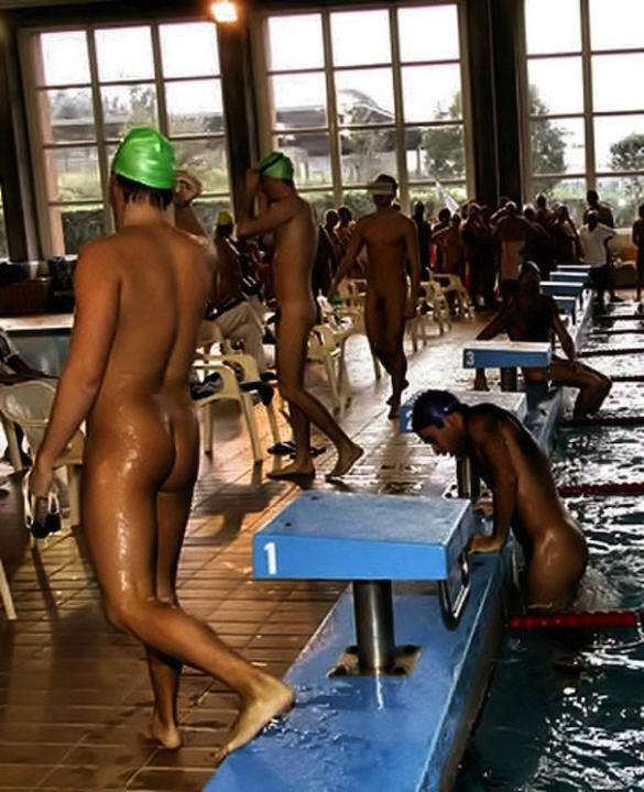 Vintage Olympic Male Swimmers Nude