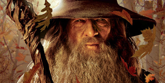 Ian McKellen as Gandalf The Hobbit 2012 movieloversreviews.filminspector.com