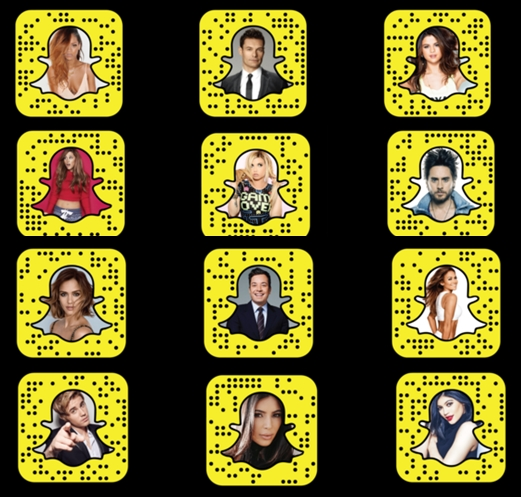 Snapchat Names Or Usernames Of Celebrities On Snapchat Snapchat