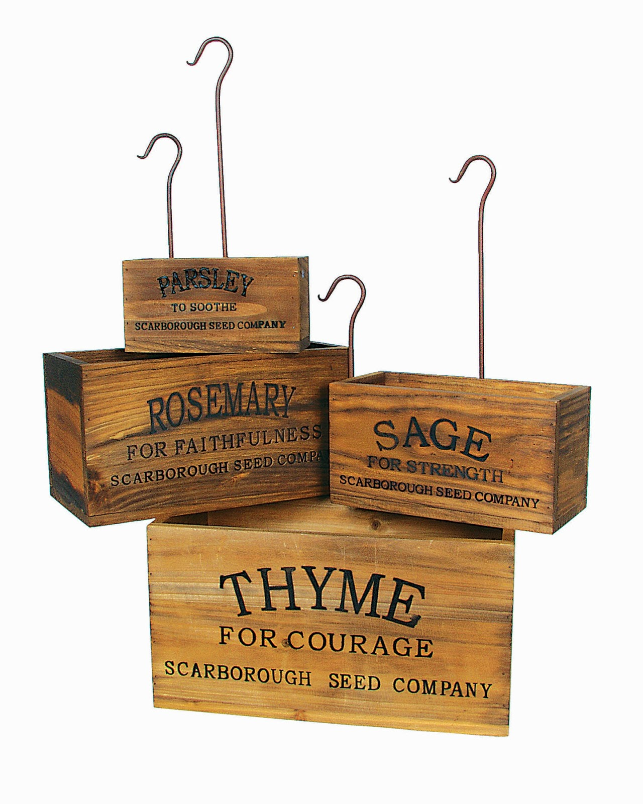 Herb Planter Box Farmhouse Musings Vintage Style Nesting Herb Crates