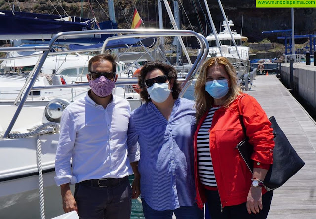 Mariano H. Zapata visita la Reserva Marina de La Palma con motivo del Día Mundial de los Océanos