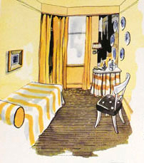 1948 yellow bedroom