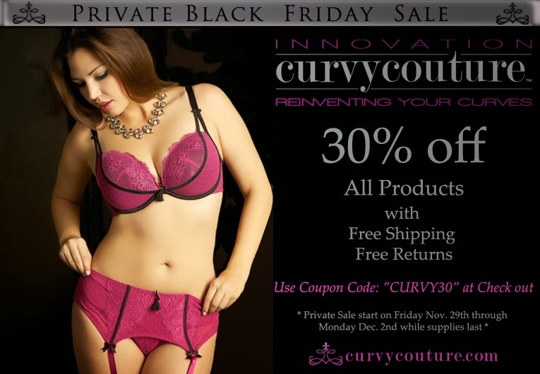 Black Friday deals, Curvy Couture, Bras
