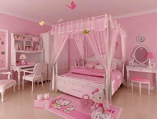 Gambar Kamar Hello Kitty Warna Pink 5
