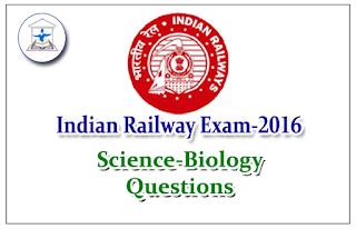 Railway Exam GK Quiz (Science - Biology) Set-4