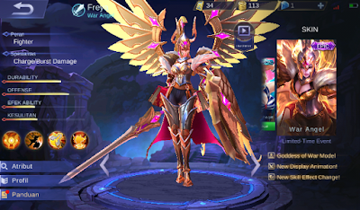 Build Item Freya Savage dan Full damage Top Player Di Mobile Legend