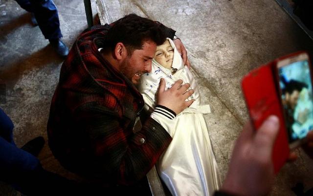 Amira Skaff (1,5) menjadi korban terbaru perang sipil di Suriah