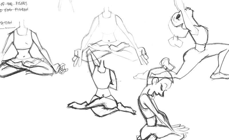 Sketching Yoga Poses