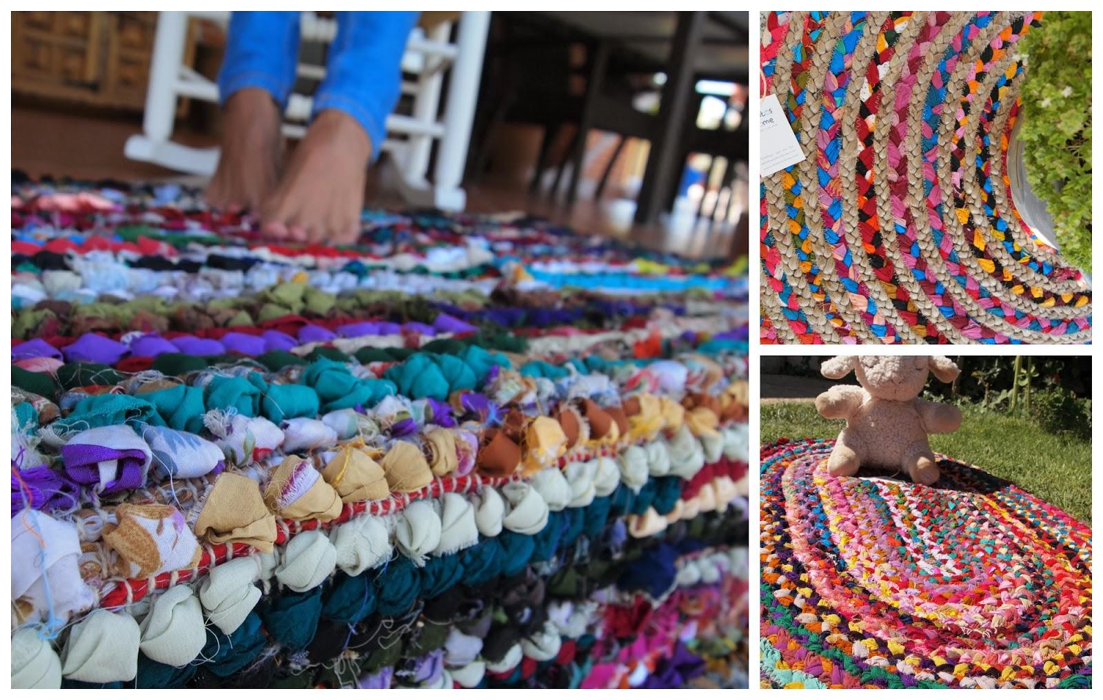 Mimitos Home Alfombras Indias De Telas Y Yute I Dale Color A Cada - Alfombras-colores