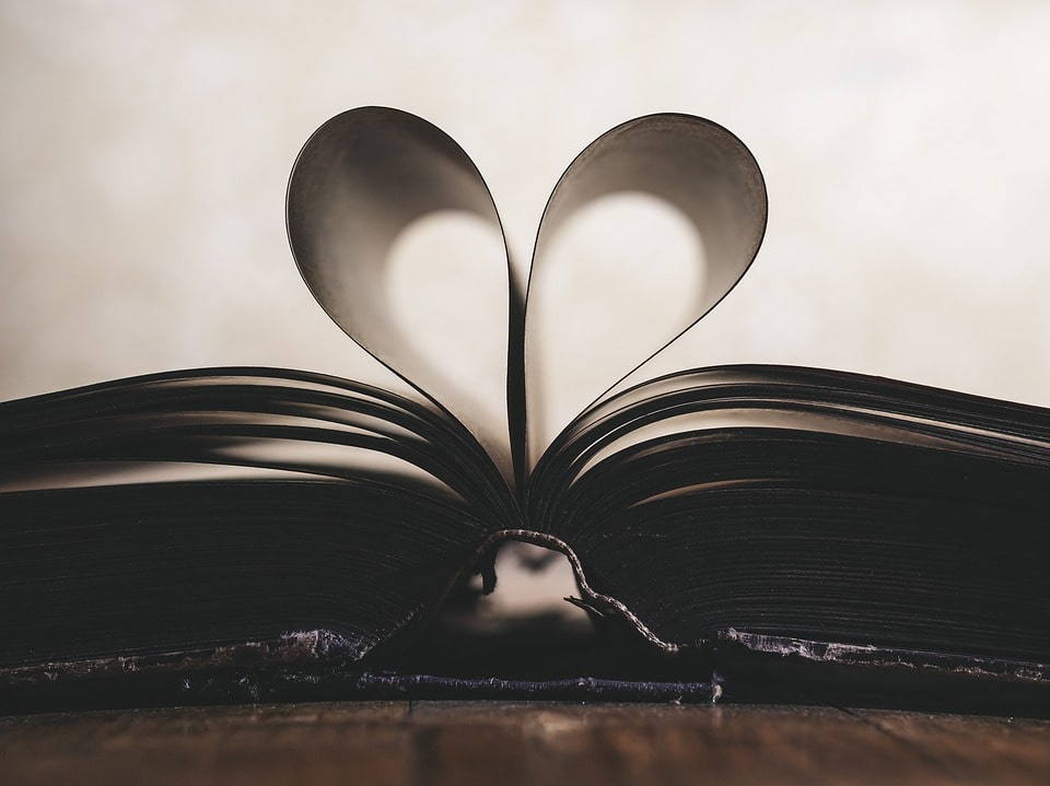 open book heart