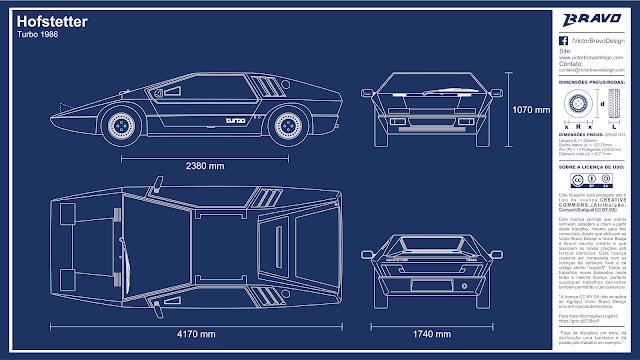 Imagem mostrando o desenho do blueprint Hofstetter Turbo 1986