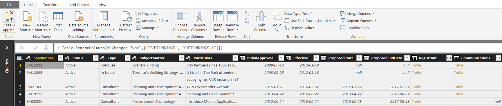 Data modeling in Power BI using XML file with Parent and