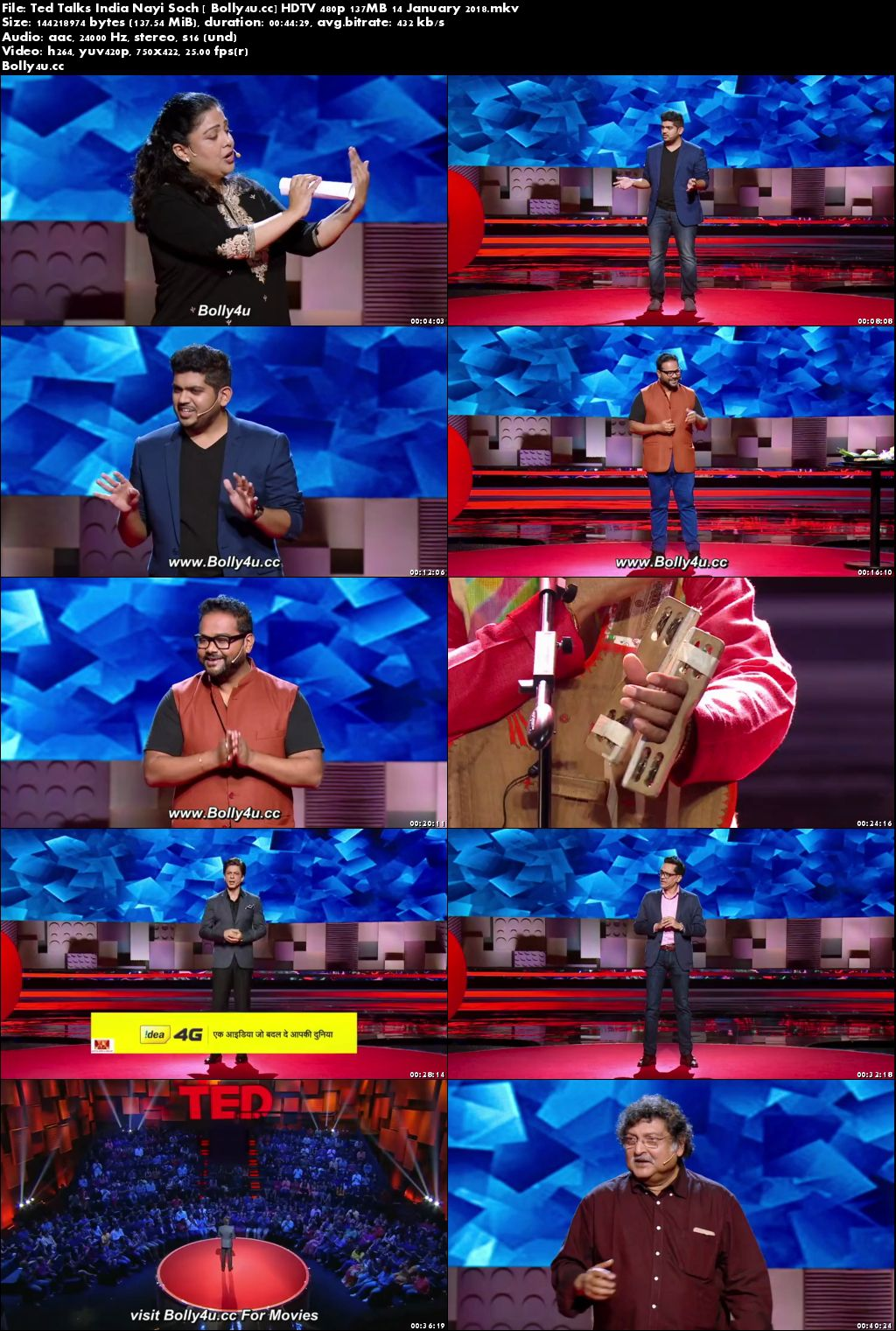 Ted Talks India HDTV 480p 130MB 14 January 2018 Download