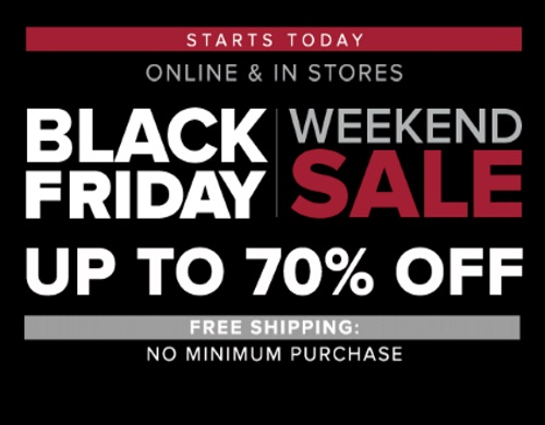 Hudson's Bay Black Friday Weekend Sale Up To 70% Off