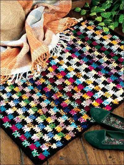 Crochet blanket, Interlocking-block crochet stitch