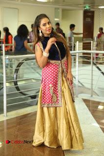 Telugu Actress Sri Reddy Mallidi Stills in White Beautiful Dress at Marriage Needs Bridal Fashion Week 2017 Logo Launch  0175.JPG