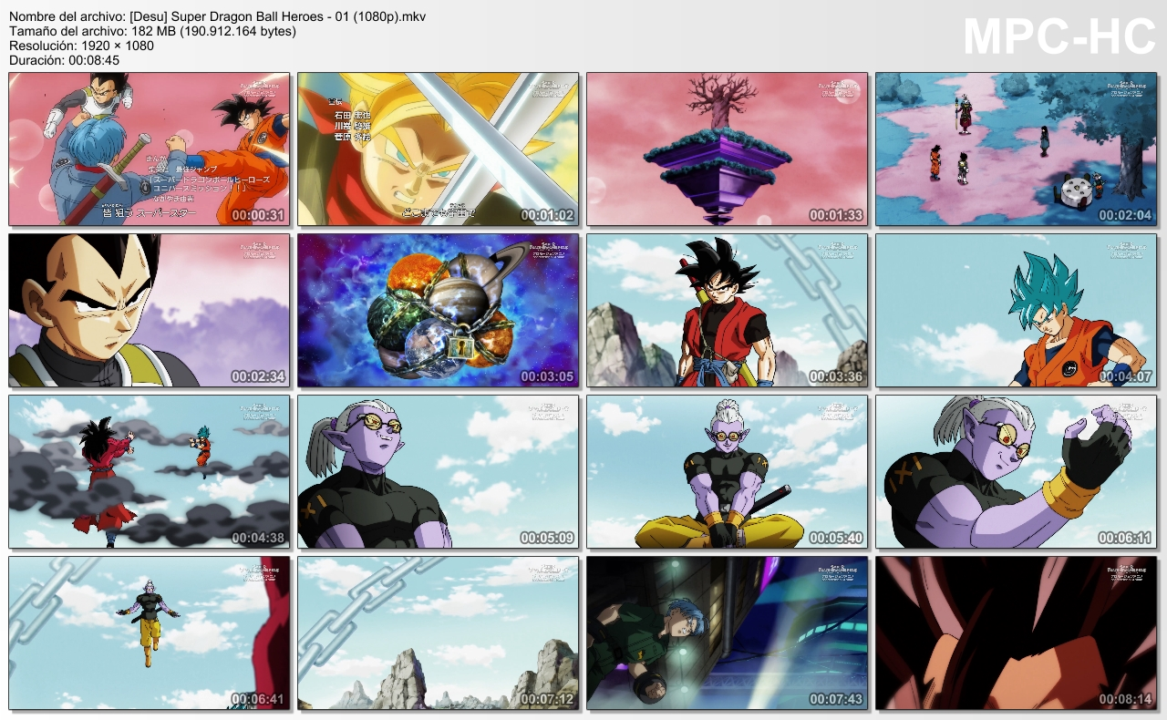 Capturas de Super Dragon Ball Heroes
