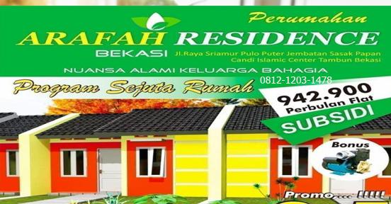 Perumahan Arafah Residence Subsidi Tambun Bekasi