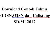 Download Contoh Juknis FL2SN,O2SN dan Calistung SD/MI 2017