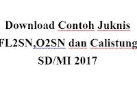 Download Contoh Juknis FL2SN,O2SN dan Calistung SD/MI 2017