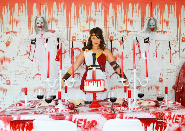 Bloody Good Time Halloween Party by GreyGrey Designs #greygreydesigns #shindigz #bloodygoodtime #halloween #bloody #halloweenparty #partyideas