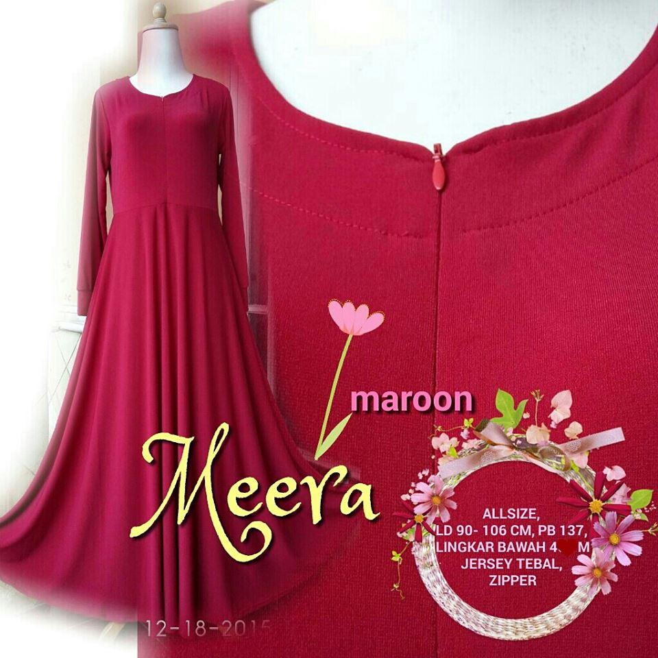Gamis Jersey Meera Maroon Bekasi