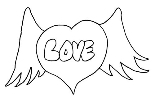 """""""I Love You """" Coloring Pages >> Disney Coloring Pages"""
