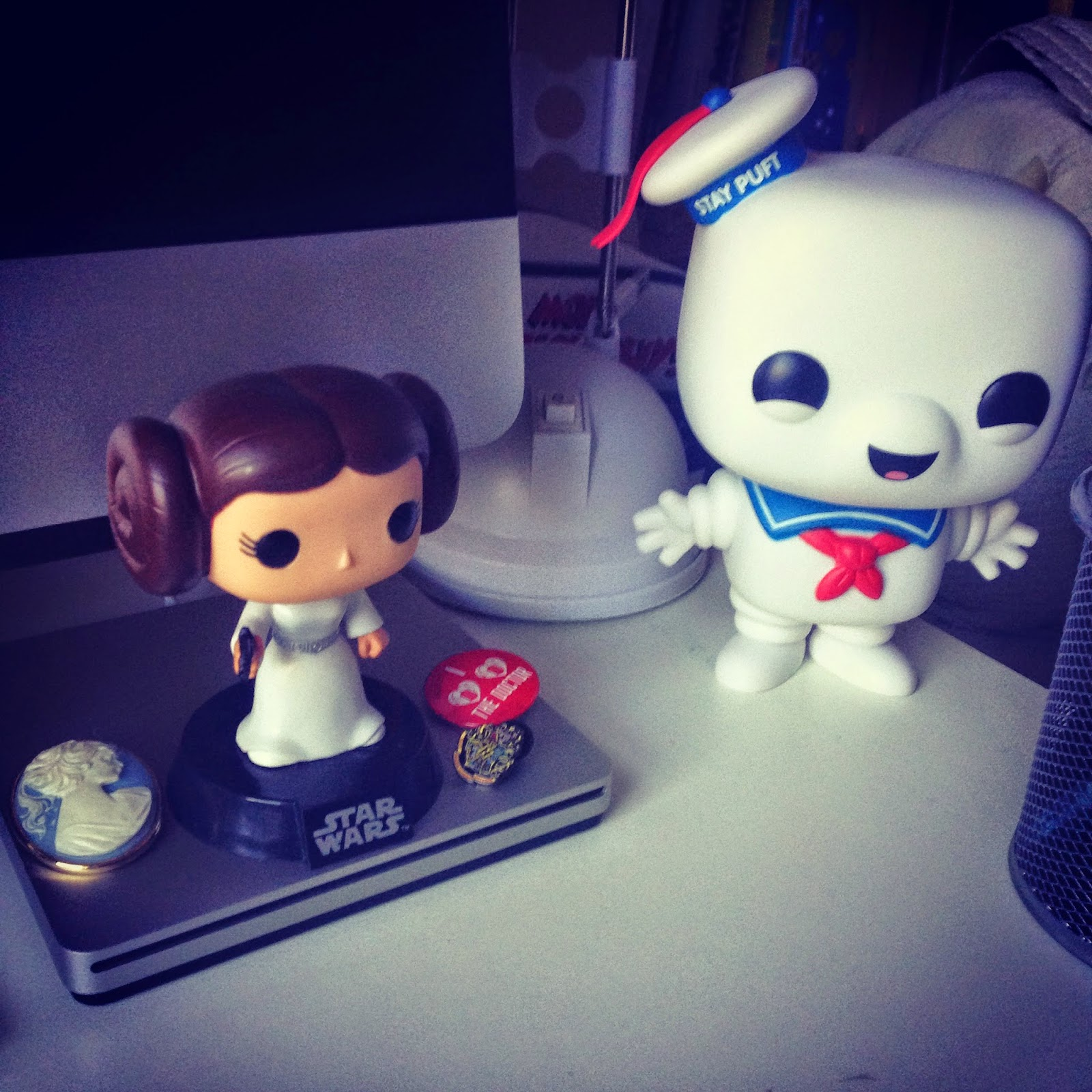 Princess Leia Pop Vinyl Stay Puft Pop Vinyl