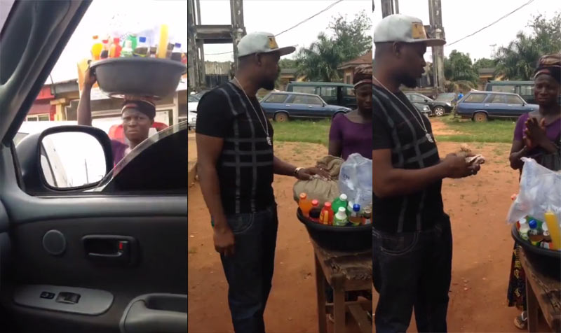 Very touching video: Man offers financial help to pure water seller who makes $2 per day