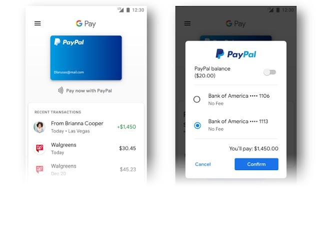 Paypal se integra a Google Pay de manera mas facil