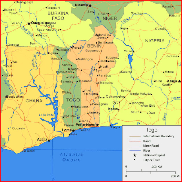 image: Map of Togo