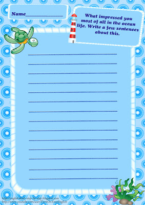 sea animals composition worksheet