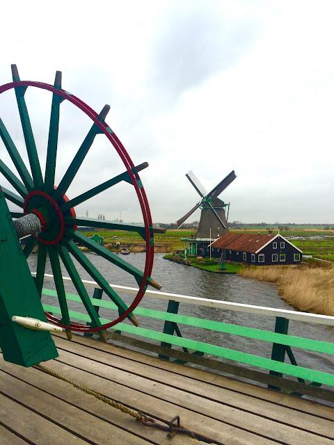 Zaanse Schans Netherlands Windmill