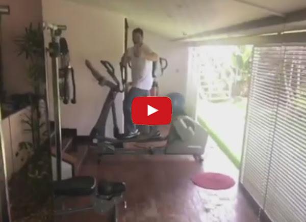 Winston Vallenilla presume de su nueva máquina de ejercicios de 4000 dólares