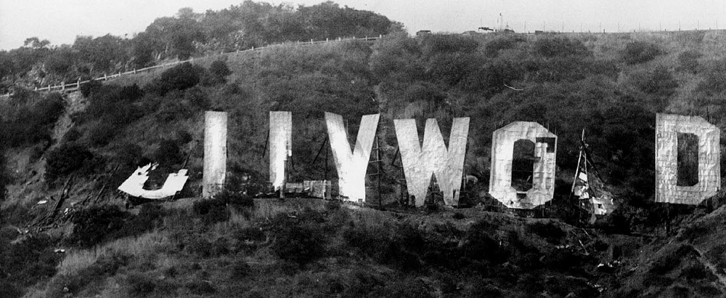 Hollywood Sign Falling Down Ca 1970s