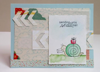 Snail Mail Card by Naki | In Slow Motion Stamp set by Newton's Nook Designs #newtonsnook