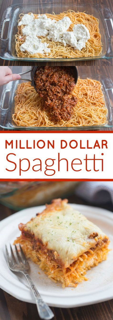 MILLION DOLLAR SPAGHETTI #million #dollar #spaghetti #dinnerrecipes #dinnerideas #dinner