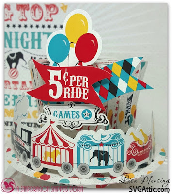 Created at In the Crafting Cave with Lisa  Carta Bella Circus Party Favors