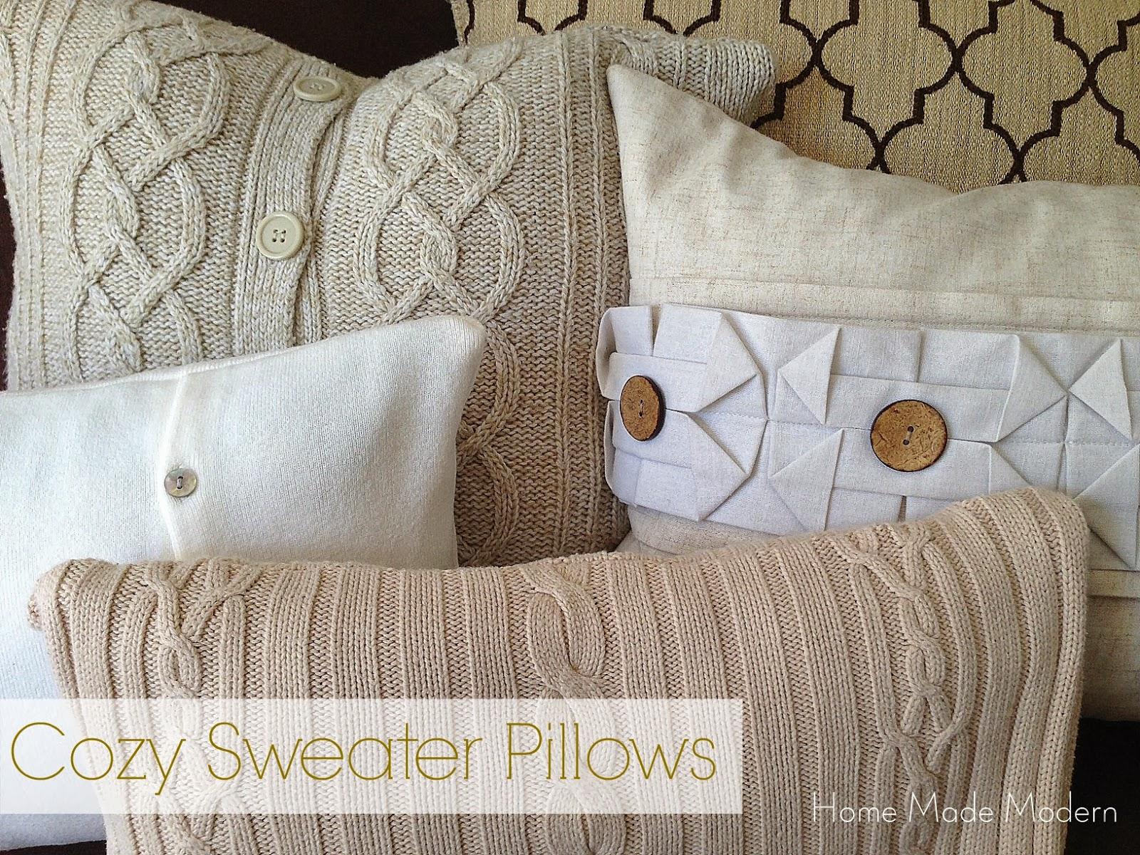 Home Made Modern: Copycat Craft: Cozy Sweater Pillows