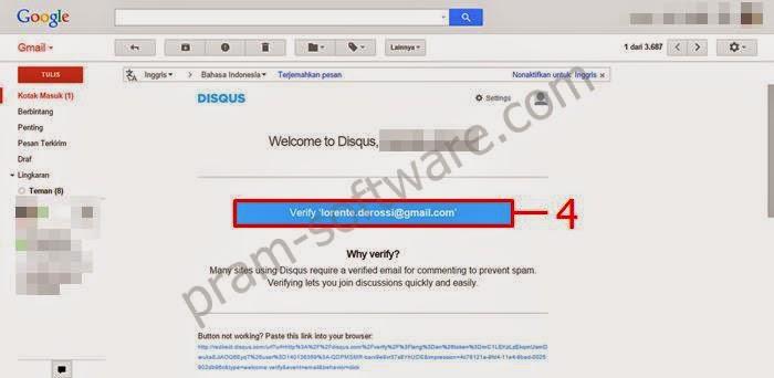 Menverivikasi Email dari Disqus