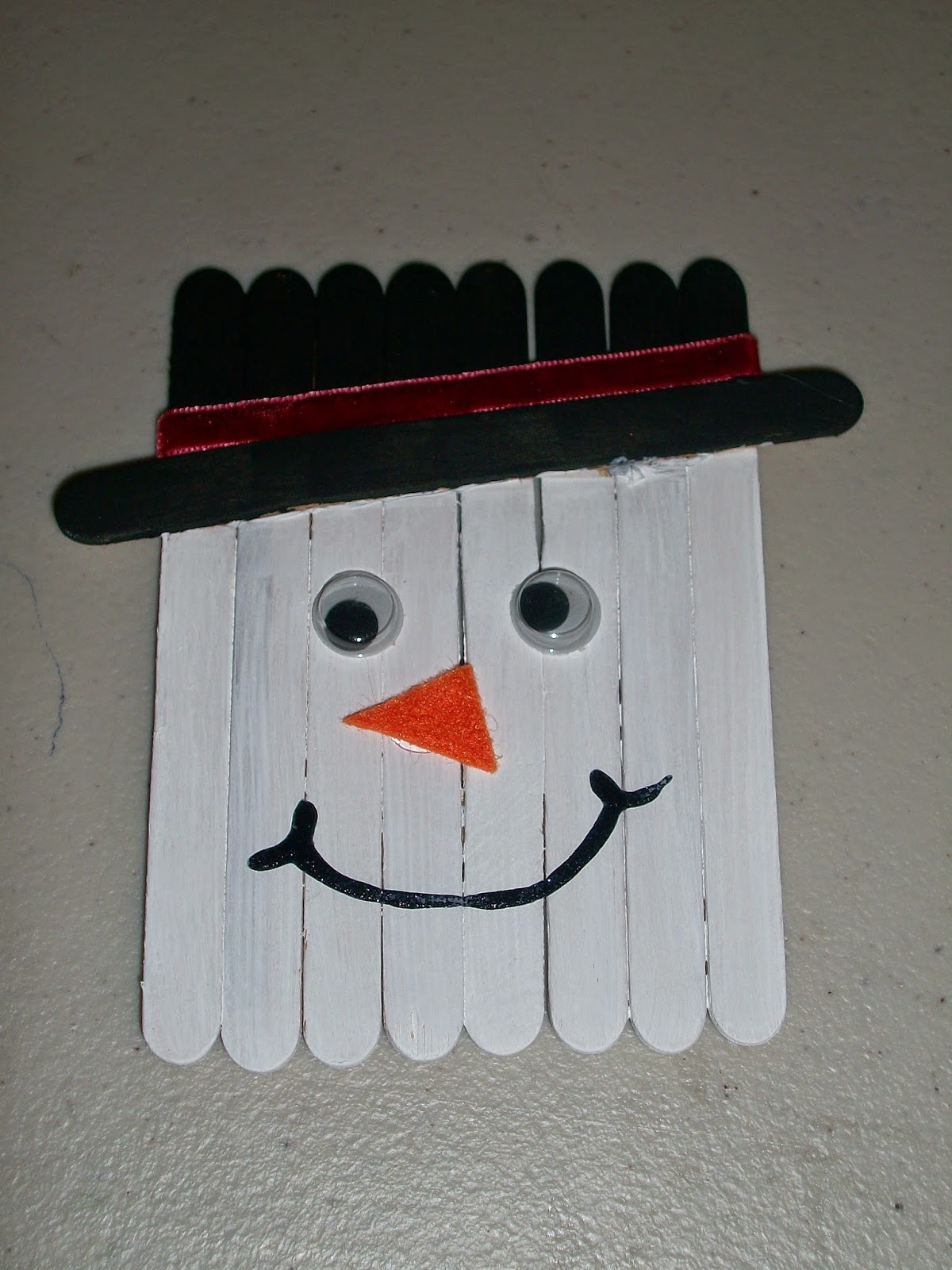 DIY Snowman Popsicle Stick ornament